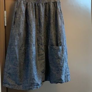 Eileen Fisher Skirt Blue Jeans material petite